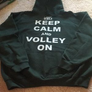 Tops - Keep calm and volley on hoodie